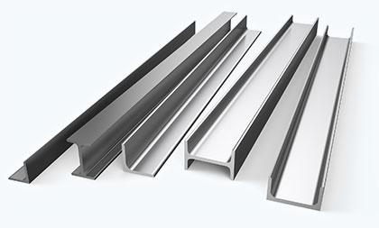Verschiedene Stahlträger